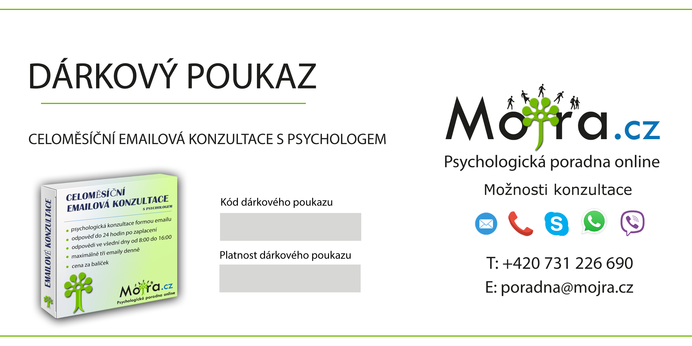 Celoměsíční komunikace s psychologem emailem