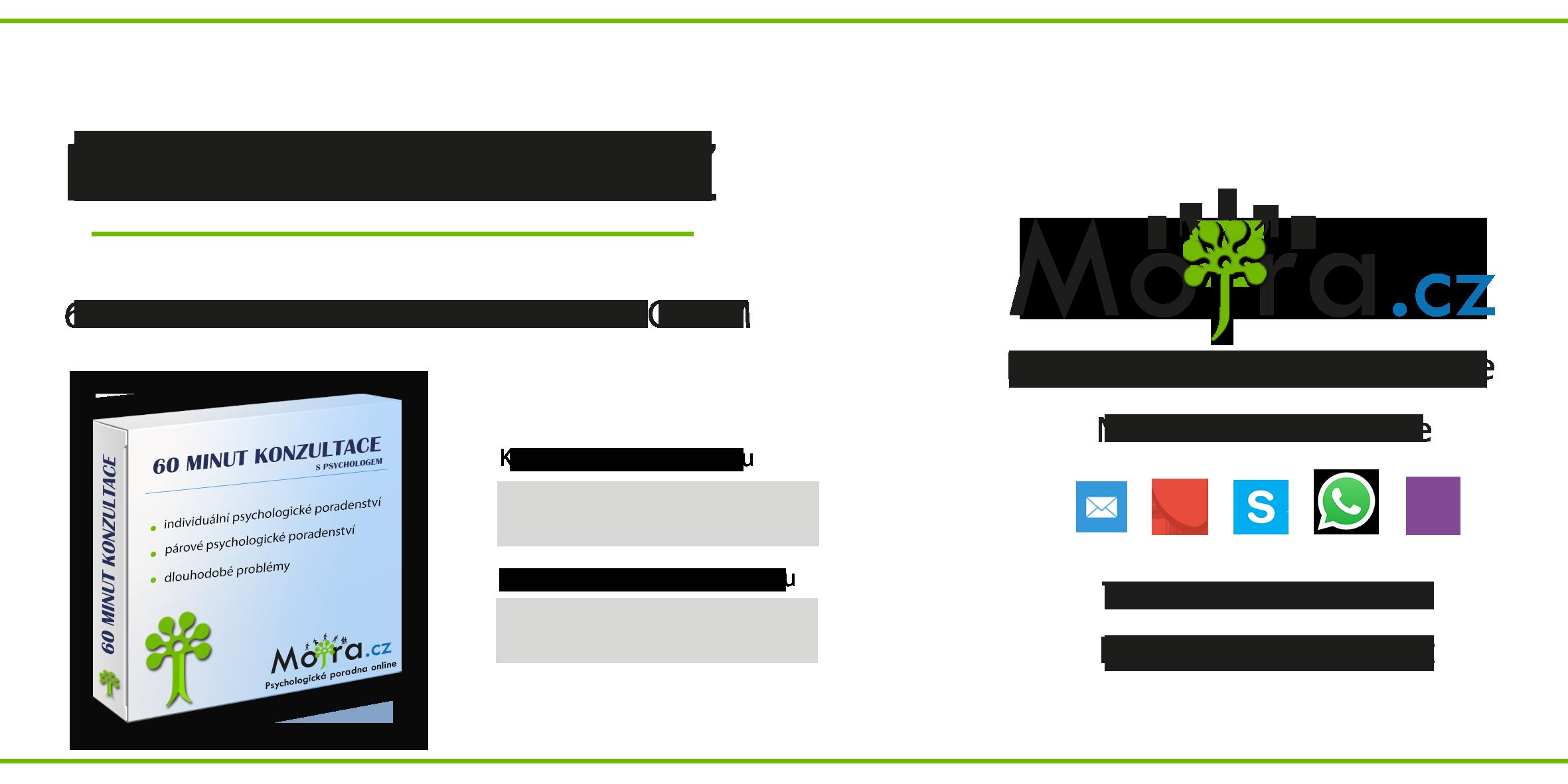 60 minut konzultace s psychologem