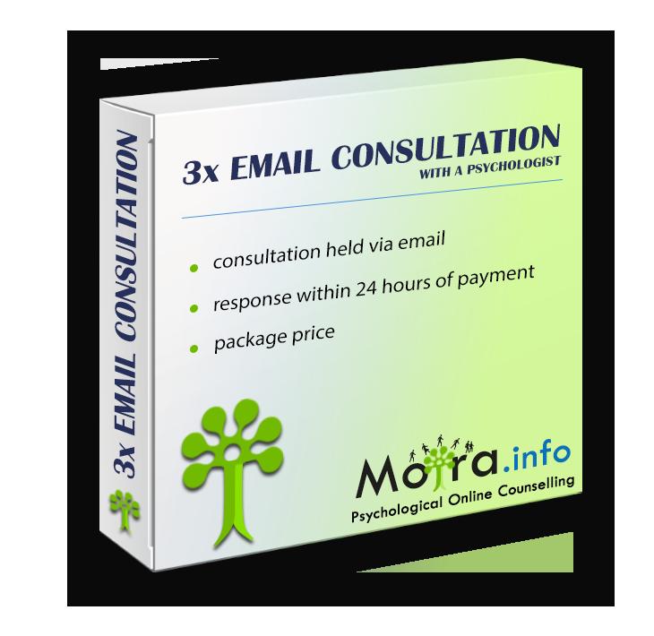 3x Emailová konzultace s psychologem